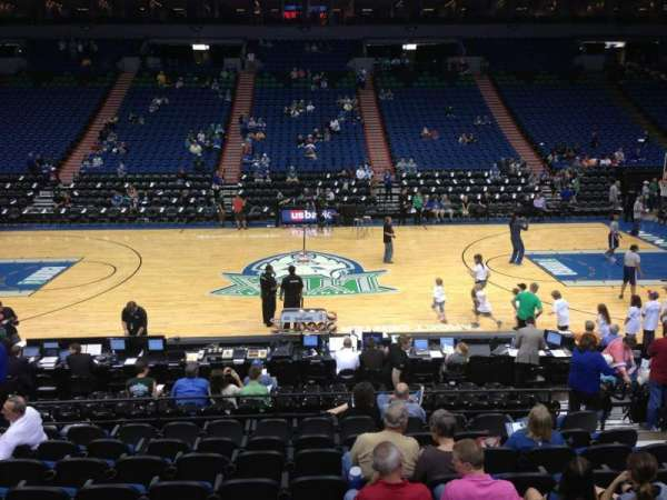 Target Center, section: 131, row: G, seat: 8
