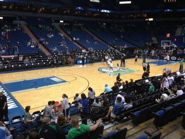 Target Center, section: 133, row: G, seat: 8