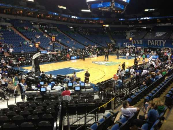 Target Center, section: 136, row: K, seat: 8