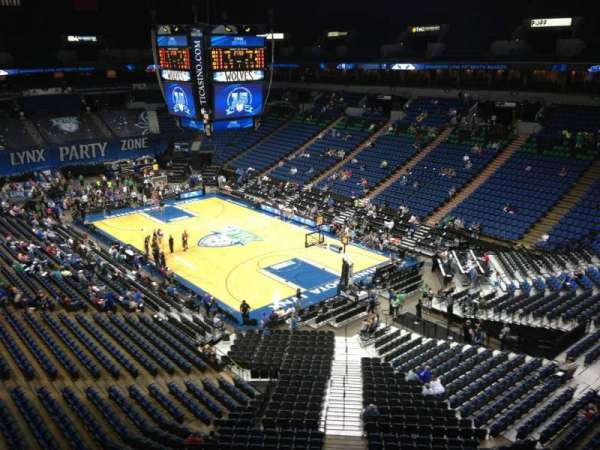 Target Center, section: 204, row: A, seat: 8