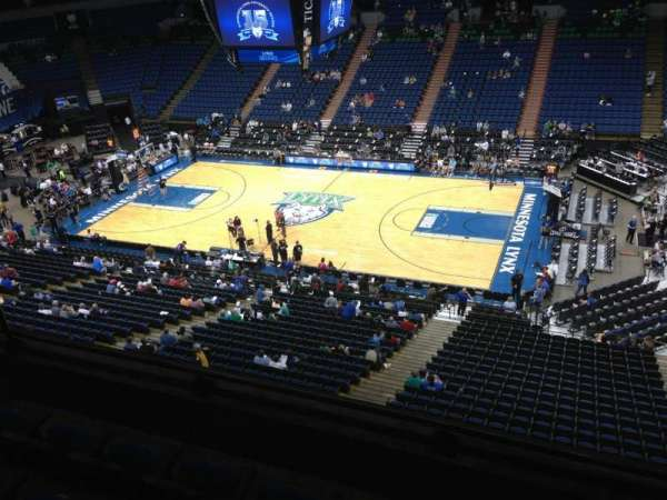 Target Center, section: 208, row: A, seat: 8