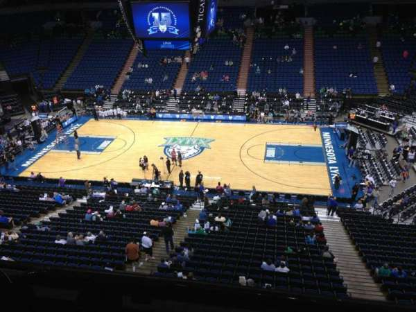 Target Center, section: 209, row: A, seat: 9