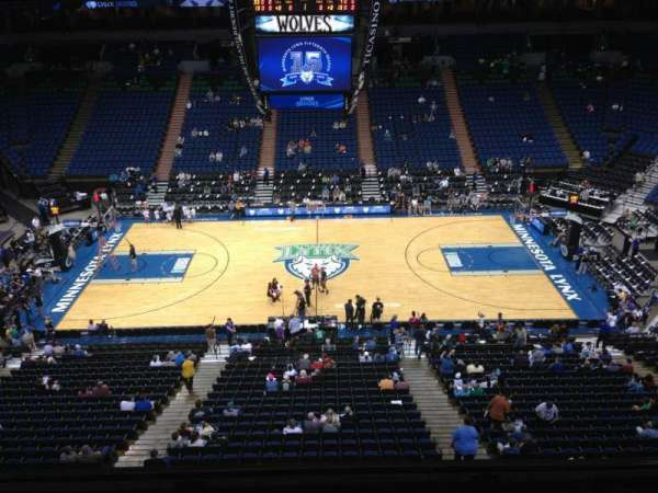Target Center, section: 210, row: A, seat: 8