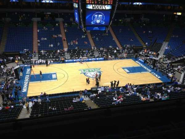 Target Center, section: 212, row: A, seat: 8