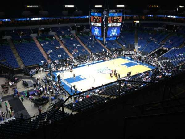 Target Center, section: 215, row: A, seat: 9