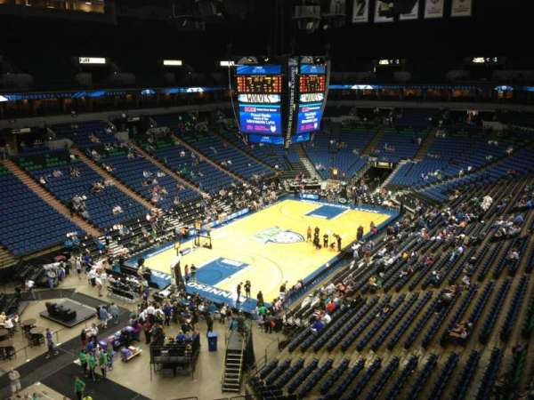 Target Center, section: 218, row: A, seat: 8