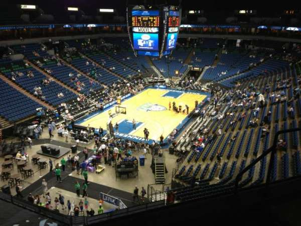 Target Center, section: 219, row: A, seat: 8