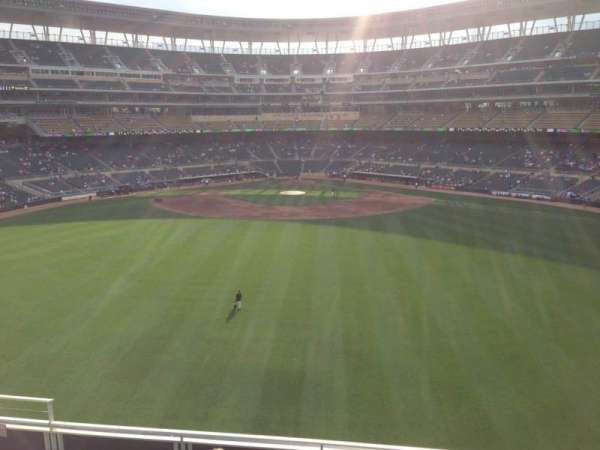 Target Field, section: 225, row: 4, seat: 11