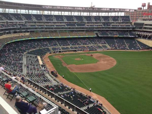 Target Field, section: 301, row: 1, seat: 14