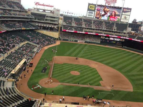 Target Field, section: 311, row: 1, seat: 11