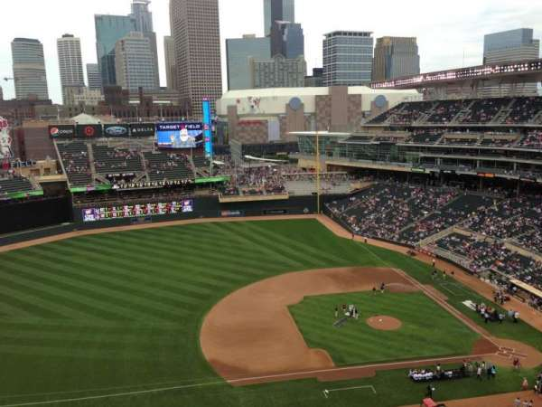 Target Field, section: 321, row: 8, seat: 7