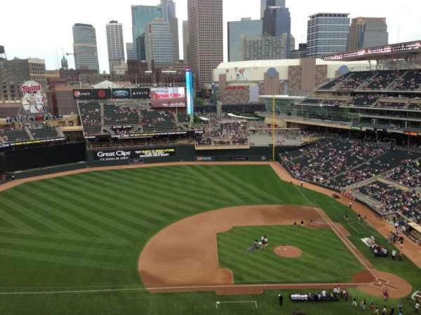 Target Field, section: 323, row: 8, seat: 8