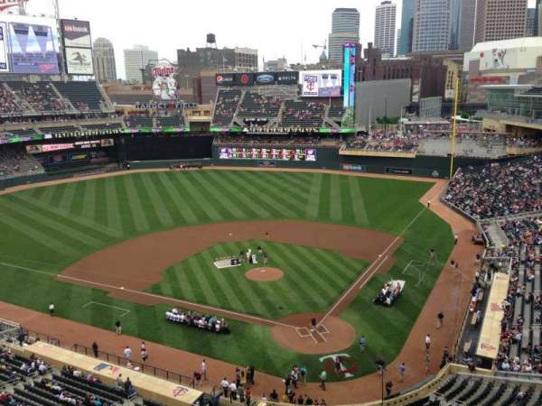 Target Field, section: 217, row: 5, seat: 12
