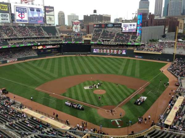 Target Field, section: 216, row: 5, seat: 11