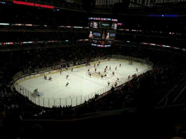 United Center, section: 322, row: 4, seat: 7