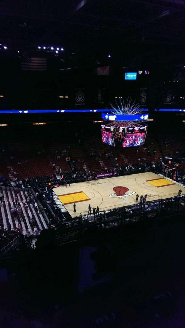 American Airlines Arena, section: 311, row: 9, seat: 8
