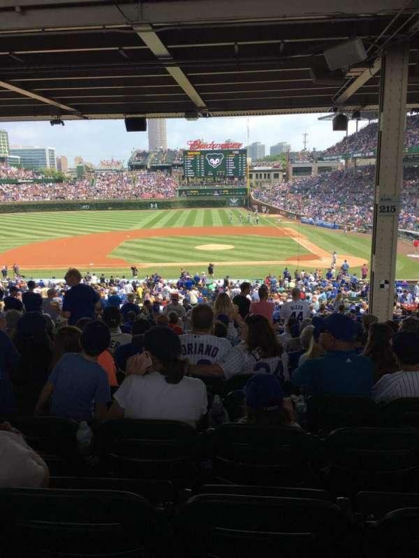 Wrigley Field, section: 213, row: 17, seat: 4