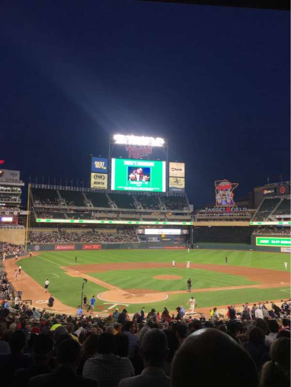 Target Field, section: 112, row: 20, seat: 10