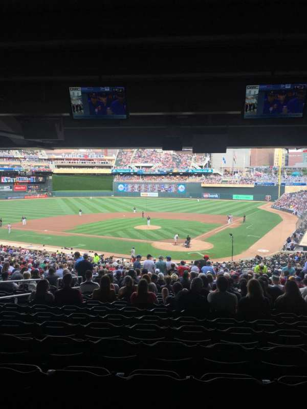 Target Field, section: 116, row: SRO