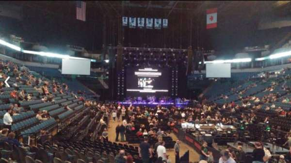 Target Center, section: 104, row: H, seat: 6