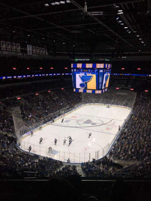 Enterprise Center, section: 326, row: J, seat: 18