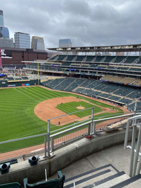 Target Field, section: 325, row: 3, seat: 2