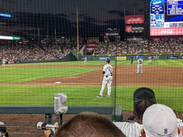 Coors Field, section: 121, row: 6, seat: 7