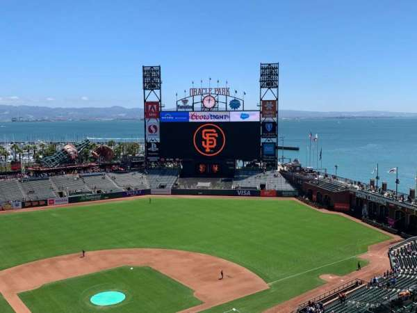 Oracle Park, section: VR313, row: 12, seat: 1