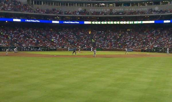 Globe Life Park in Arlington, section: centerfield bleachers, row: 3