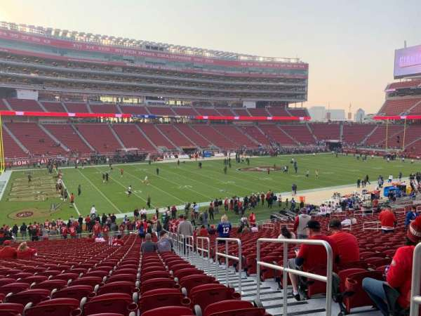 Levi's Stadium, section: 121, row: 33, seat: 1