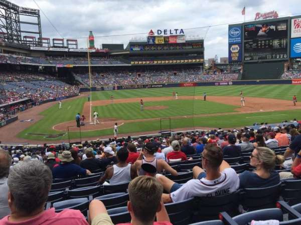 SunTrust Park, section: 105R, row: 26, seat: 7