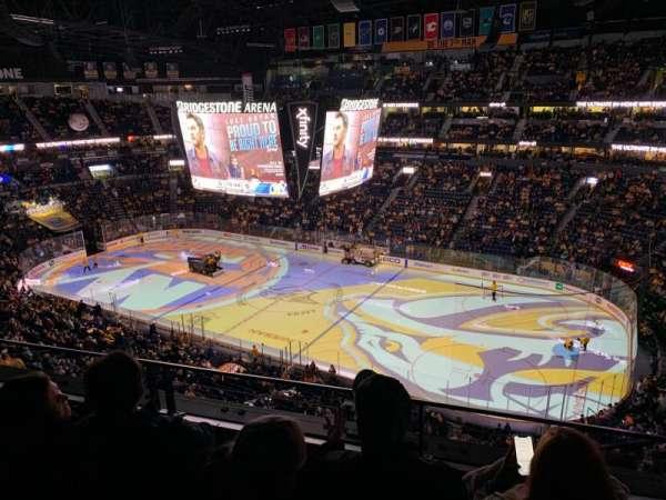 Bridgestone Arena, section: 328, row: C, seat: 1