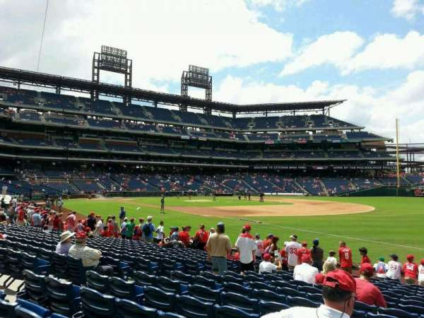 Citizens Bank Park, section: 111, row: 15, seat: 6