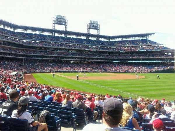Citizens Bank Park, section: 109, row: 19, seat: 17