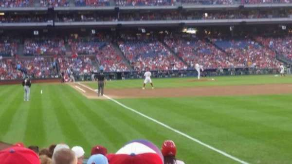 Citizens Bank Park, section: 109, row: 9, seat: 3