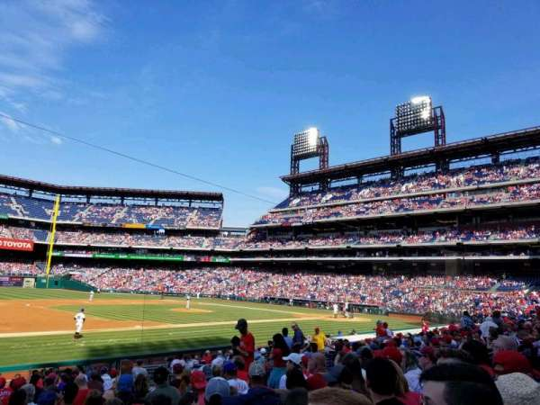 Citizens Bank Park, section: 133, row: 19, seat: 11