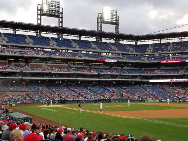 Citizens Bank Park, section: 111, row: 18, seat: 7