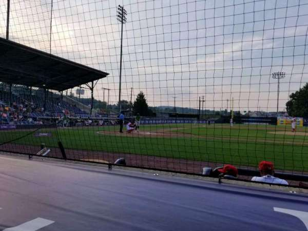BB&T Ballpark at Historic Bowman Field, section: d, row: f, seat: 1