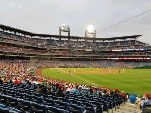Citizens Bank Park, section: 108, row: 26, seat: 1