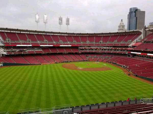 Great American Ball Park, section: 401, row: v, seat: 1