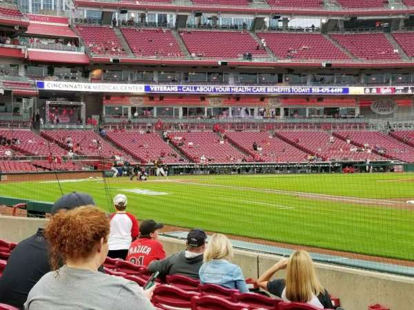 Great American Ball Park, section: 133, row: f, seat: 15