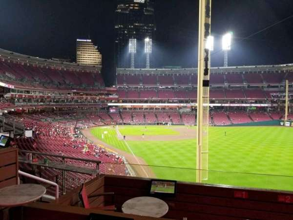 Great American Ball Park, section: Party Box 7, seat: 1