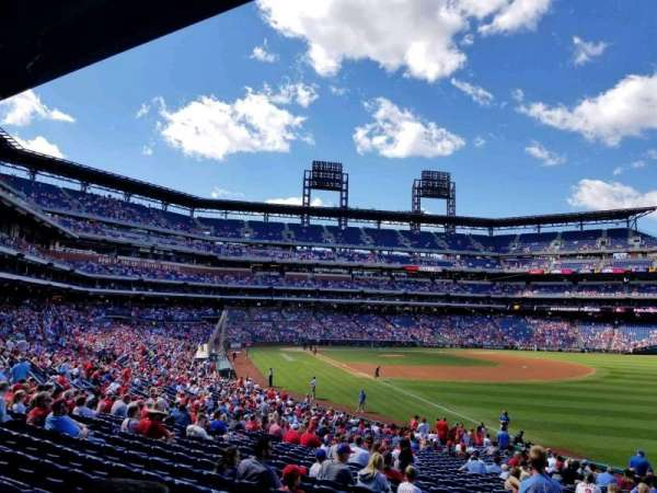 Citizens Bank Park, section: 109, row: 34, seat: 1