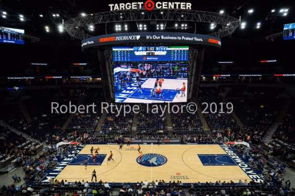 Target Center, section: 211, row: A, seat: 5-6