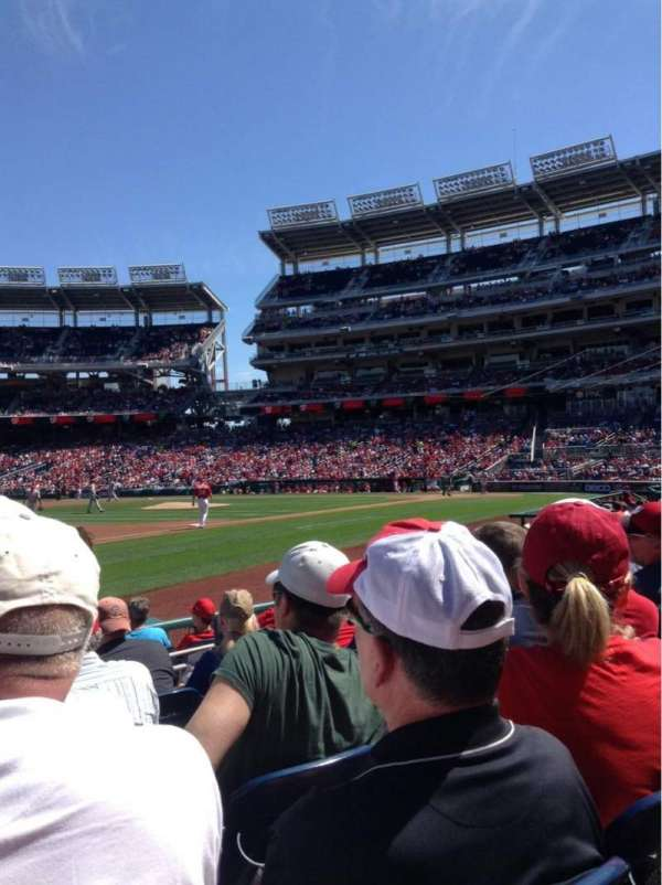 Nationals Park, section: 113, row: H, seat: 12
