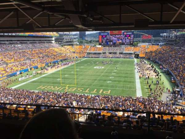 Heinz Field, section: NC-010, row: B, seat: 16