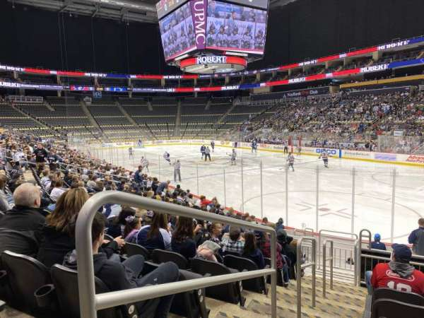 PPG Paints Arena, section: 109, row: N, seat: 17