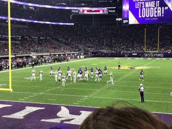 U.S. Bank Stadium, section: 118, row: 8, seat: 16