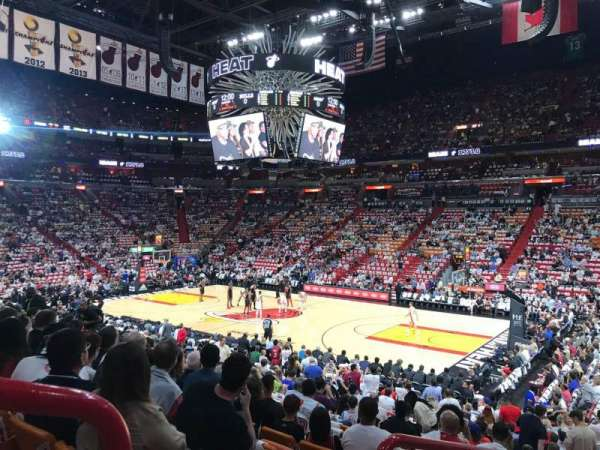 American Airlines Arena, section: 104, row: 20, seat: 16