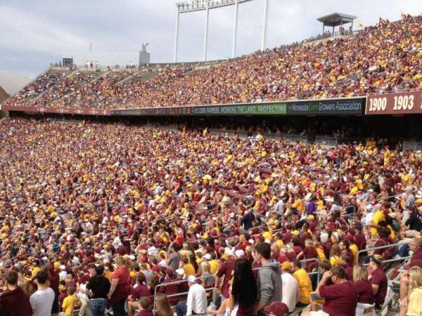 TCF Bank Stadium, section: 121